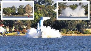Avion PRĂBUȘIT în Australia: Două persoane au murit sub privirile a mii de oameni. VIDEO