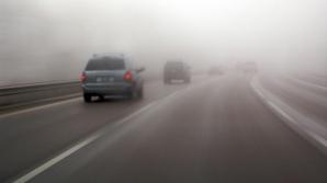 Mare atenţie! Se circulă în condiţii de ceaţă pe A1