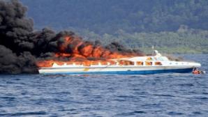 Căpitan de navă, reţinut pentru laşitate! Când vaporul a luat foc, a fost primul care a sărit în apă