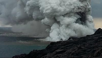 Imagini ULUITOARE! O bucată din Insula Hawaii s-a prăbuşit în ocean