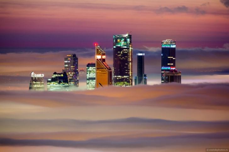Orașul de deasupra norilor: imagini fantastice