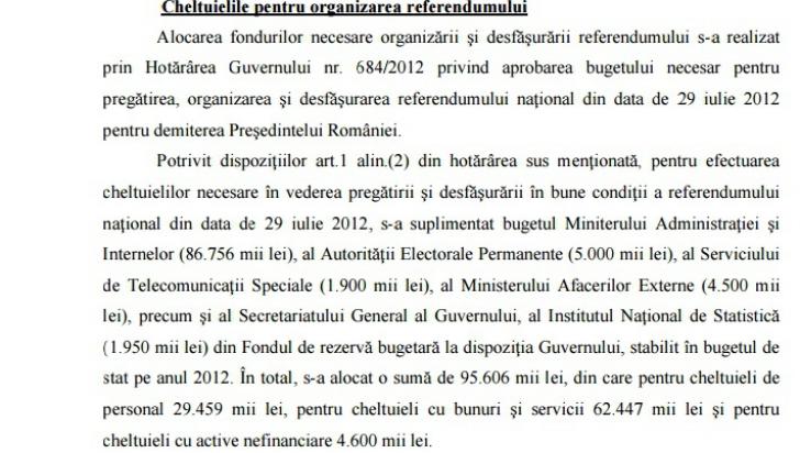 Cât a costat, de fapt, referendumul din 2012, pentru demiterea preşedintelui. Cum exagerează PSD