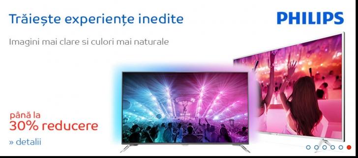 eMAG – Televizoarele Philips au reducere 30% din pret, in aceasta saptamana