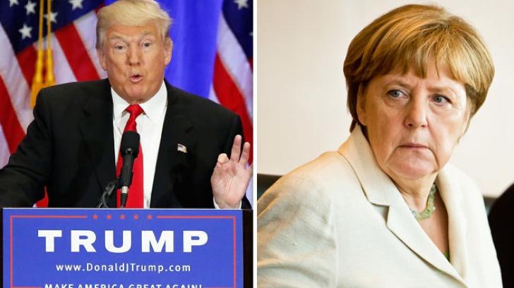 """Trump și Merkel au subliniat """"importanța fundamentală"""" a NATO. Trump vine în vară în Europa"""