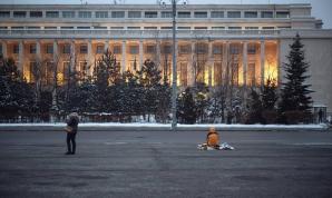 Piața Victoriei, sâmbătă 11 februarie