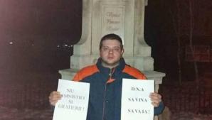 Poveste impresionantă a singurului protestatar din Odobeşti. Duminică, s-a aflat în Piaţa Victoriei