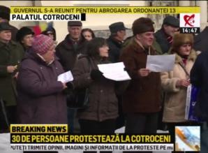 Protestul de la Cotroceni