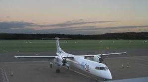 Incident pe aeroportul din Amsterdam: trenul de aterizare al unui avion de pasageri a cedat