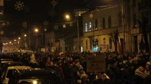 Impresionant! Cum s-a văzut de sus protestul de la Cluj