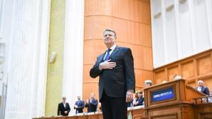 Imagini de la discursul preşedintelui Iohannis în Parlament