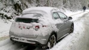 Zăpadă de aproape doi metri în România