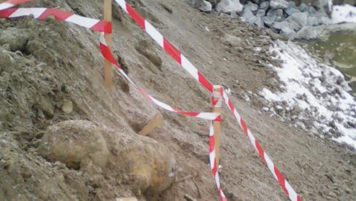 ALERTĂ pe Dunăre. Bombă de 250 kilograme, descoperită în apropiere de Portul Giurgiu