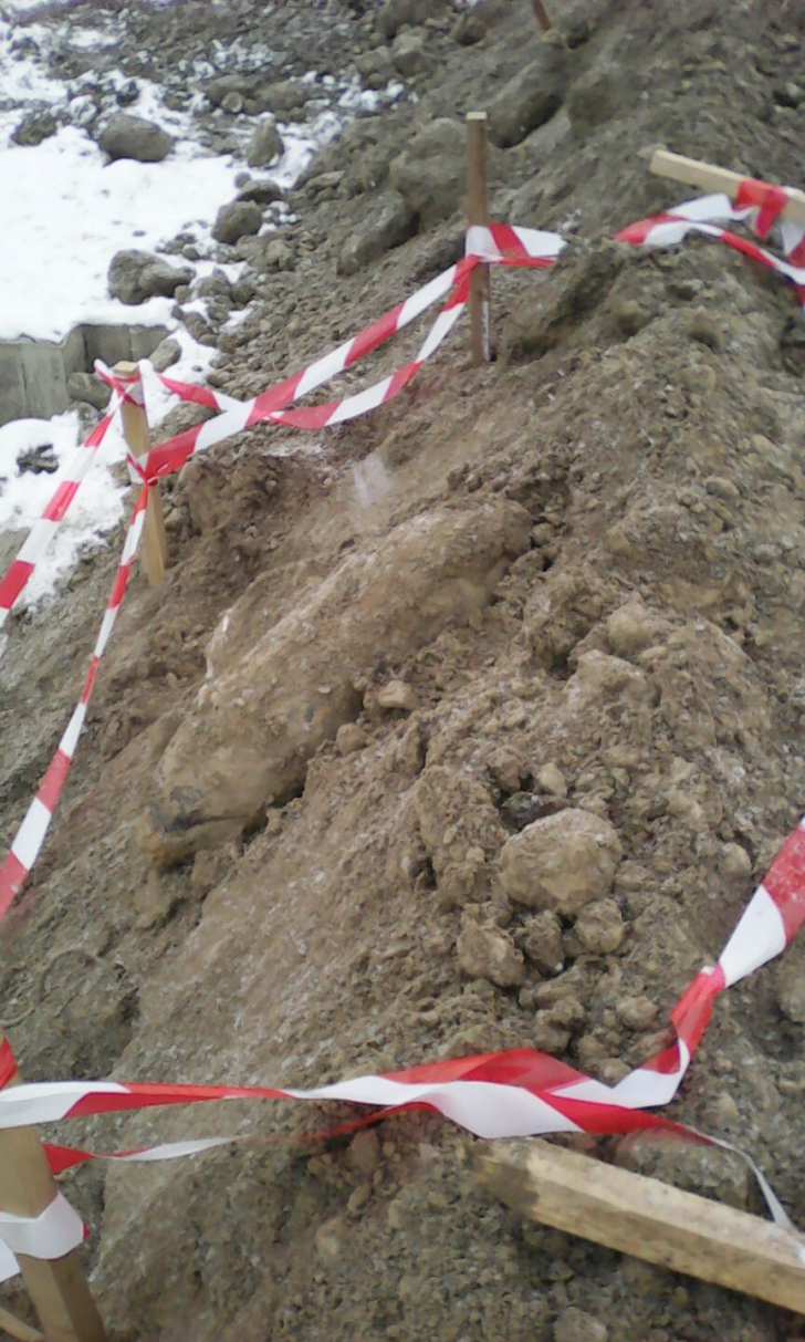 ALERTĂ pe Dunăre. Bombă de 250 kilograme, descoperită în apropiere de Portul Giurgiu / Foto: ISU Giurgiu