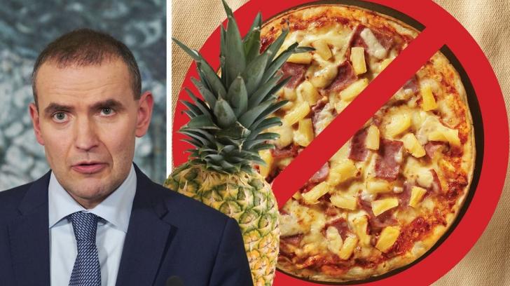 Președintele unei țări europene vrea să interzică pizza cu ananas. Află de ce