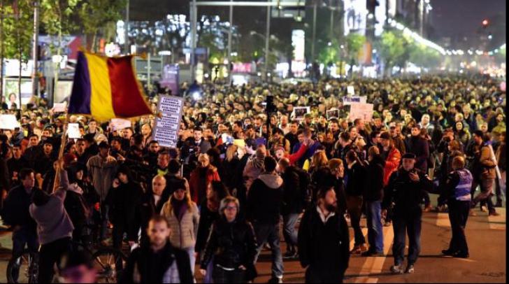 <p>Proteste în Sofia, semn de solidaritate cu manifestantii români</p>
