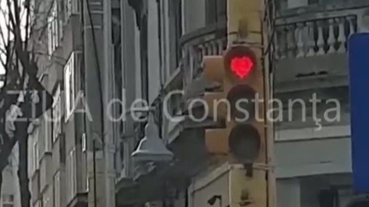 Ce au văzut şoferii pe un bulevard din Constanţa, de Ziua Îndrăgostiţilor