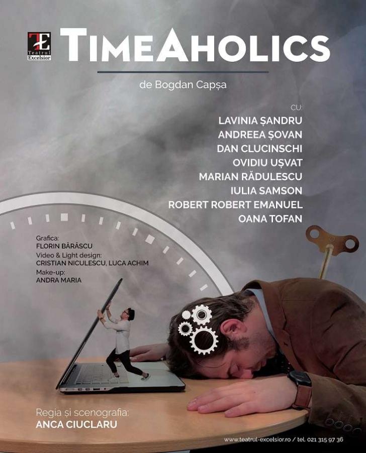 """Lavinia Șandru se întoarce la prima dragoste: teatrul. Joacă rolul principal în piesa """"TimeAholics"""""""
