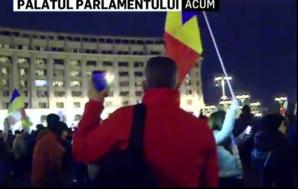 Protest la Palatul Parlamentului