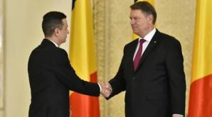 Sorin Grindeanu şi Klaus Iohannis