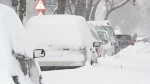 Iarnă în toată regula în martie. Zăpadă de 30 de cm, în Harghita
