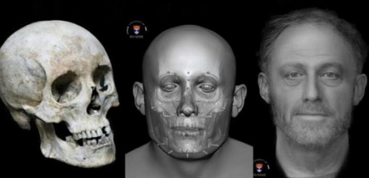 Chipul unui bărbat care a trăit în secolul XIII, reconstituit. Ce au aflat despre el privindu-l