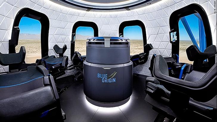 Cum va arăta capsula construită de Blue Origin pentru turiștii spațiali