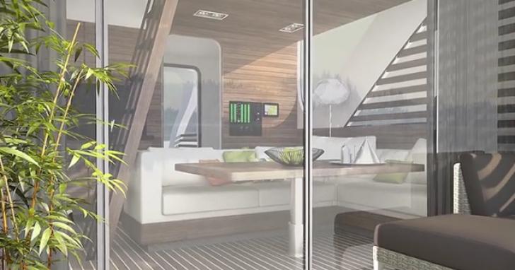 Japonezii au dezvoltat mini-moteluri plutitoare.Practic, te plimbi pe apă într-un dormitor navigabil