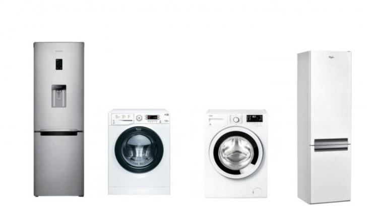 Reduceri eMAG Stock Busters. 10 oferte tari la frigidere și mașini de spălat