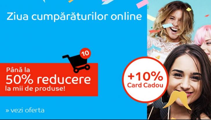 eMAG – Sarbatoare fulger pe site-ul magazinului – Ziua cumparaturilor online aduce 50% discount