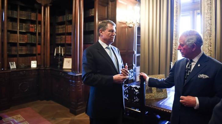 GALERIE FOTO. Imagini de colecţie. Preşedintele Klaus Iohannis şi Prinţul Charles, la Cotroceni