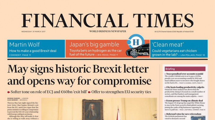 Presa britanică îşi ia adio de la UE. Reacţia celor mai prestigioase publicaţii faţă de BREXIT
