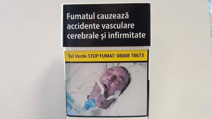 Poza unui român în comă, pe pachetele de țigări din toate țările UE. Familia NU și-a dat acordul