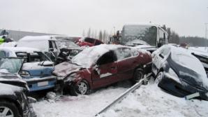 ACCIDENT în lanț, produs din cauza viscolului: 40 de autoturisme implicate, 24 de victime / Foto: Arhiva