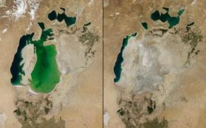 Nasa a publicat fotografii cu schimbarea unor lacuri în 15-20 de ani