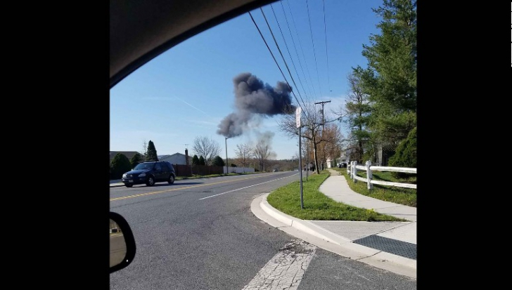 Un avion de vânătoare F-16 s-a prăbușit în SUA. Pilotul s-a catapultat