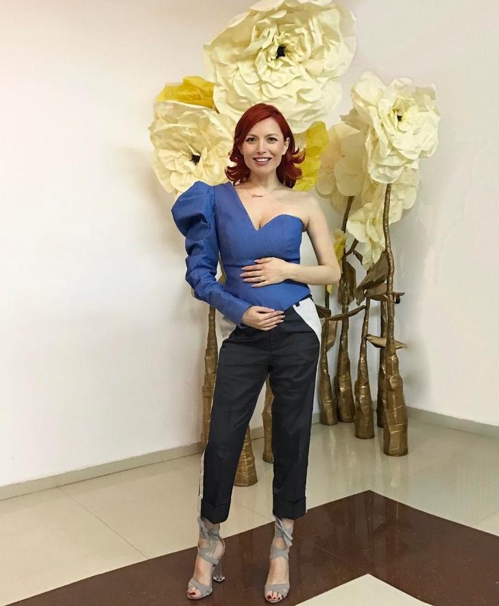 Elena Gheorghe s-a îngrăşat 1,5 kg în aproape 7 luni de sarcină. Cum a reuşit