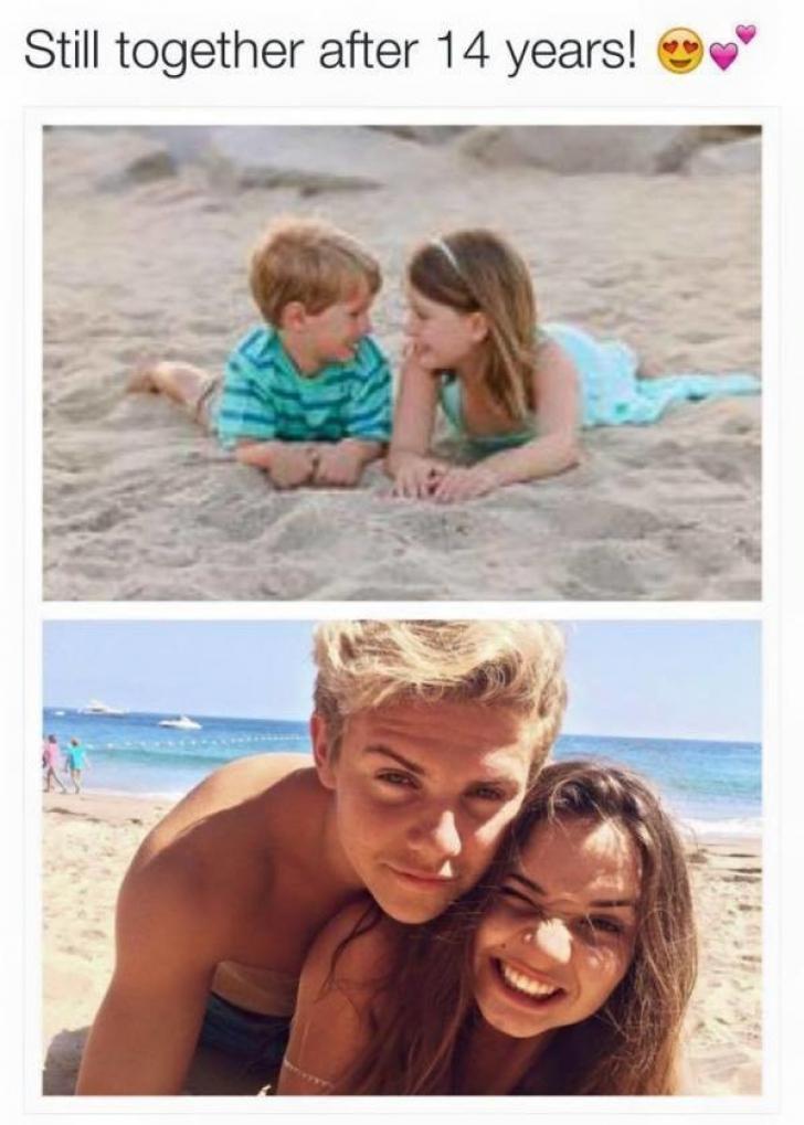 S-au văzut la 4-5 ani, au rămas împreună.Cum arată la maturitate cuplurile născute practic din faşă
