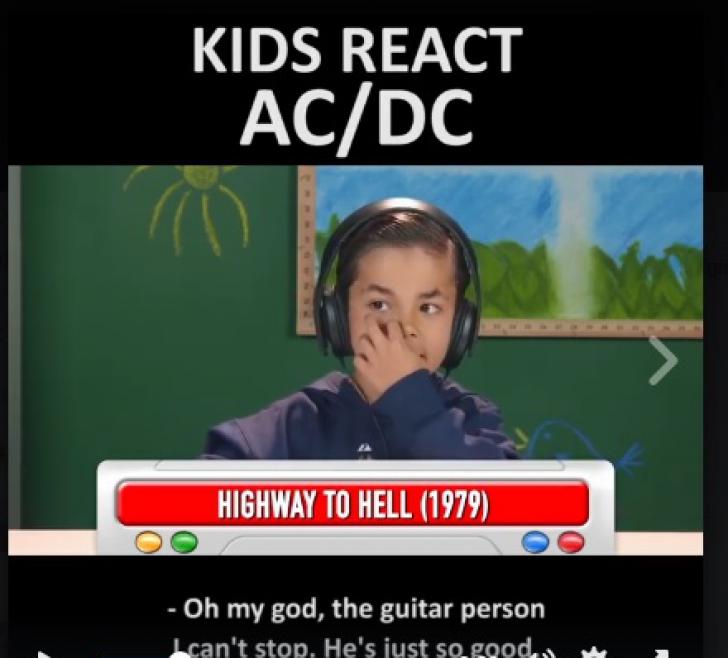 VIDEO VIRAL. Reacţia minunată a copiilor când ascultă pentru prima dată trupa rock AC/DC