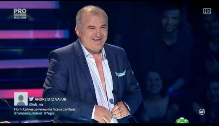 """Scene incredibile la """"Românii au talent""""! Florin Călinescu s-a dezbrăcat în direct!"""