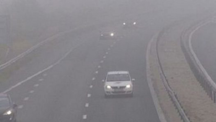 Cod galben de ceaţă până la ora 10.00. Ce zone sunt afectate