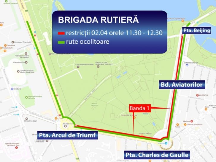 Restricții de circulație în București, sâmbătă și duminică. Motivul: un marș de protest și un cros