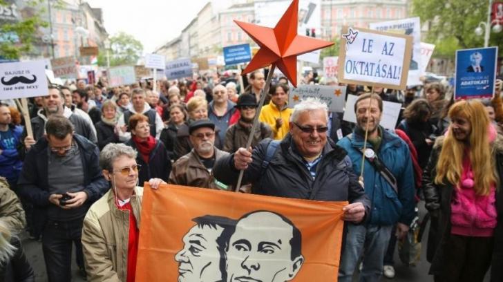 Protest la Budapesta împotriva influențelor Rusiei