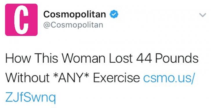 """Gafa MAJORĂ a unei celebre reviste: cancerul unei femei, prezentat drept """"dieta fără sport"""""""