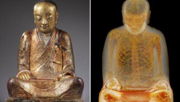 Ce s-a descoperit în INTERIORUL unei statui a lui Buddha - se vede doar la raze X şi e UIMITOR!