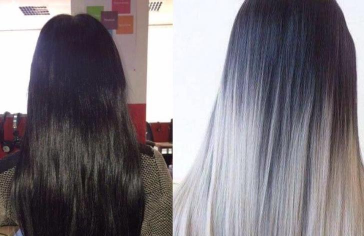 Părul iniţial al tinerei şi cum şi-ar fi dorit să arate după
