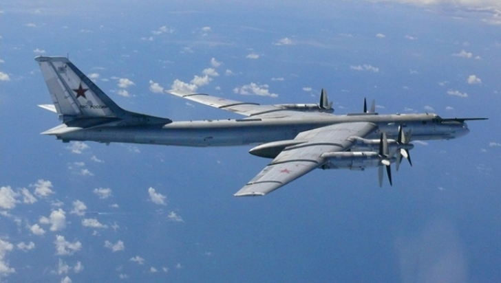 Avioane militare rusești zărite în apropierea graniței cu SUA, a patra oară în tot atâtea zile