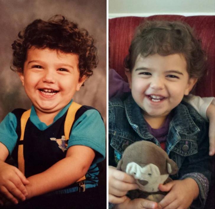 VIRAL. Fotografiile care demonstrează că aceşti copii sunt copiile fidele ale părinţilor