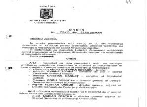 Ordinul de ministru Macovei