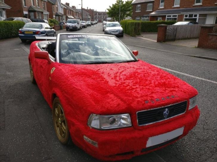 Cel mai URÂT Audi din toate timpurile: a fost îmbrăcat în blană şi redenumit Furarri