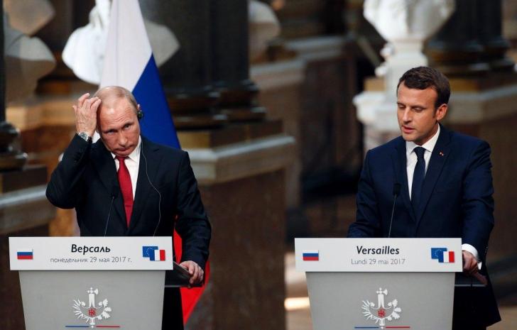 Lecţia pe care Emmanuel Macron i-a dat-o lui Vladimir Putin, despre propaganda mincinoasă din Rusia